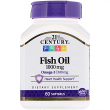 Антиоксидант 21st Century Fish Oil 1000 мг 60 таблеток